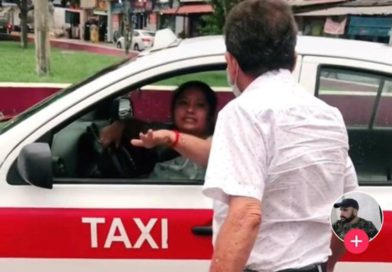 Se hace viral #ladytaxista en Coatza